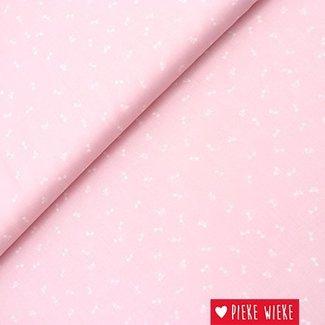 Tensel katoen roze strikjes