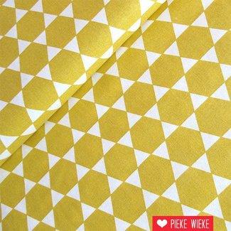 Rico design Hexagons mustard