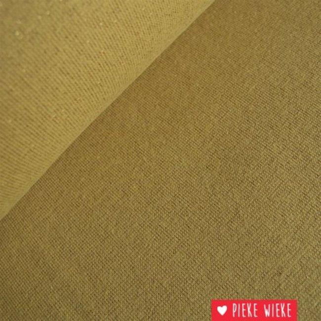 Glitterboordstof Mosterd/goud