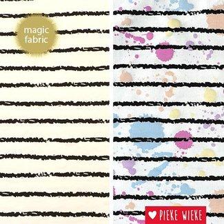 Magic fabric Tricot stripes