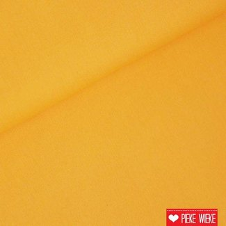 Uni katoen donker geel