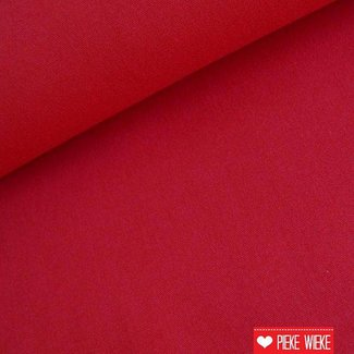 Uni katoen Donker rood