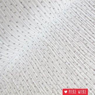 Hydrofiel Dots Wit - grijs