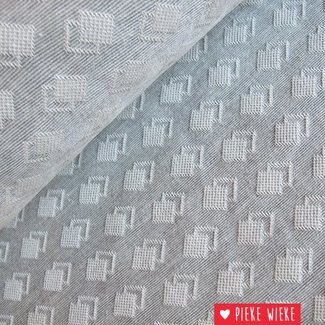 Jacquard doubble blocks gray