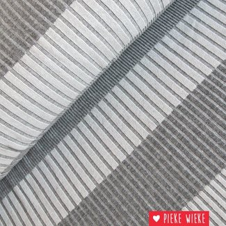 Jacquard stripes gray