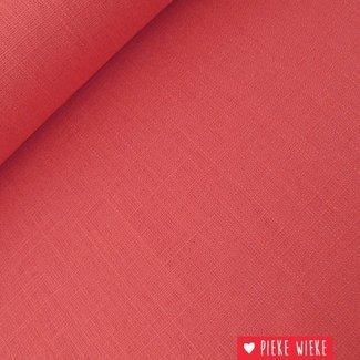 Viscose linen Pink red
