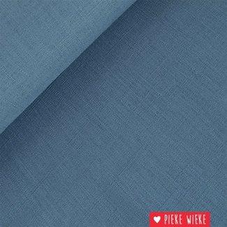 Viscose linen Blue