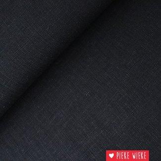 Viscose linnen Antraciet Zwart