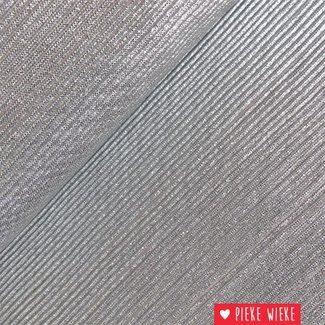 Dubbelzijdige plissé Grijs / Zilver