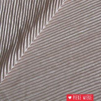 Dubbelzijdige plissé Roze / Zilver
