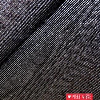 Dubbelzijdige plissé Zwart / Zilver