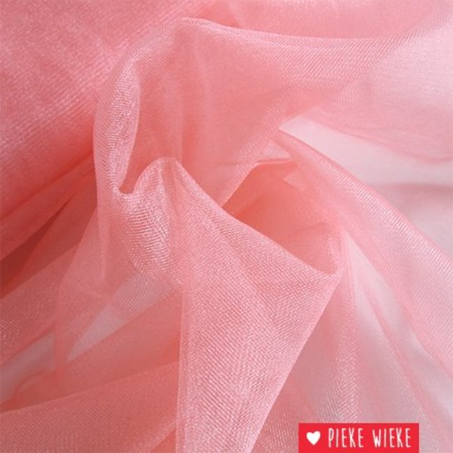 Fijne glitter tule suikerspin roze