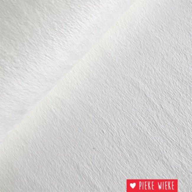 Minky fleece gebroken wit