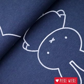 Sweat Fabric Miffy Blue