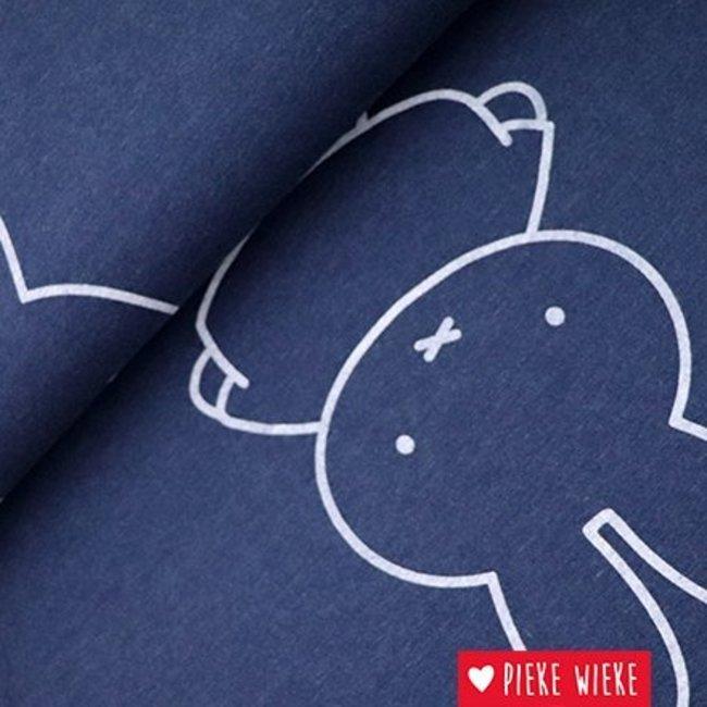 Sweaterstof Nijntje Blauw