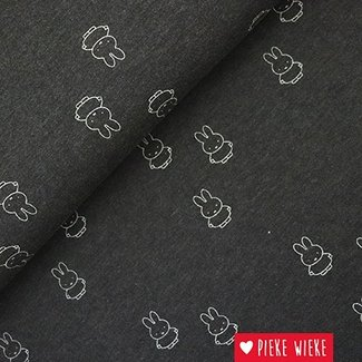 JerseyFabric Miffy Gray