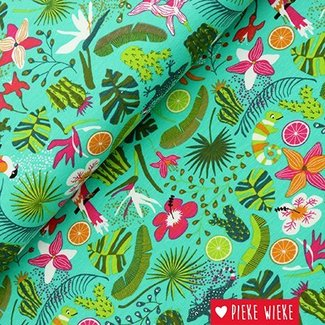 Tricot Tropical groen