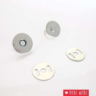 Magneetsluiting 18mm nikkel