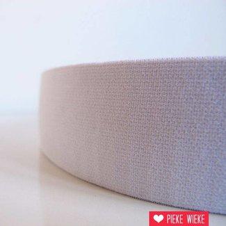 Zachte elastiek grijs 40mm