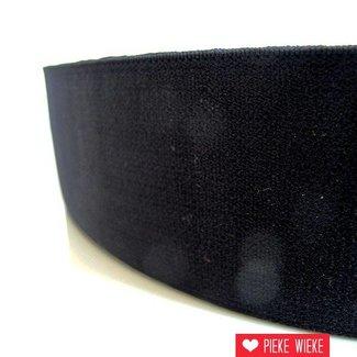 Zachte elastiek Zwart 40mm