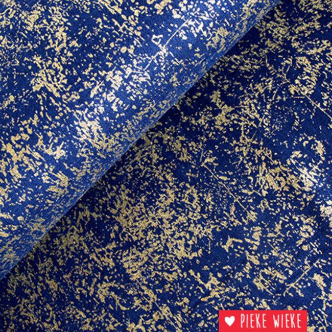Kokka Double Gauze Paint Blauw