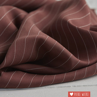 meetMilk Tencel pinstripe Raisin