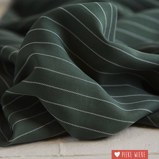 meetMilk Tencel pinstripe piqué Deep green