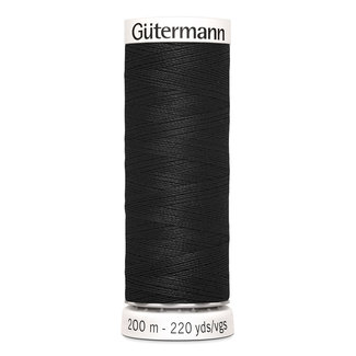 Gütermann All purpose yarn 200m  Nr. 000 Black