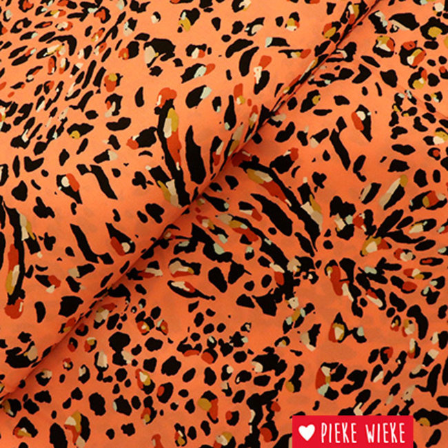 Viscose multicolour leopard yellow