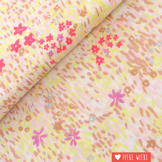 Double gauze flower meadow fluo