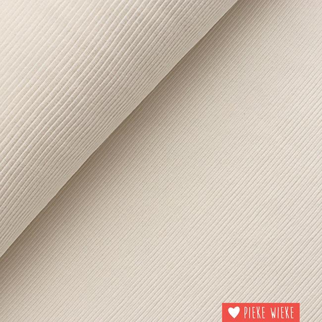 Geribbelde sweater tricot  gebroken wit