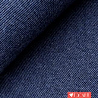 Geribbelde sweater tricot jeansblauw