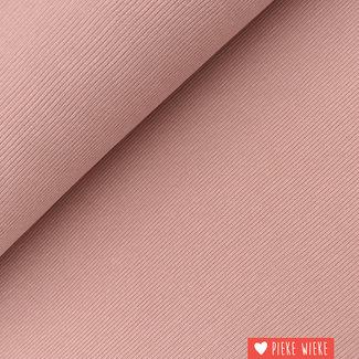 Geribbelde sweater tricot  oud roze
