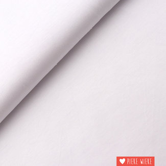 Bamboo jersey uni white