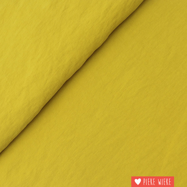 Viscose Soft touch mustard yellow