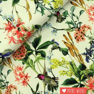 Tricot Cigia flowers ecru