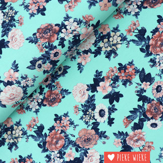 Tricot Bloemenweelde Blauw
