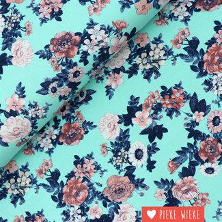Tricot Flowerwealth Blue