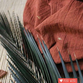 Atelier Brunette Cotton Crepe Sunset Chestnut