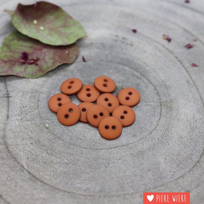Atelier Brunette Button Clasic mat 12mm Chestnut