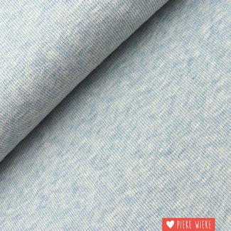 Boordstof geribbeld Blauw grijs gemêleerd