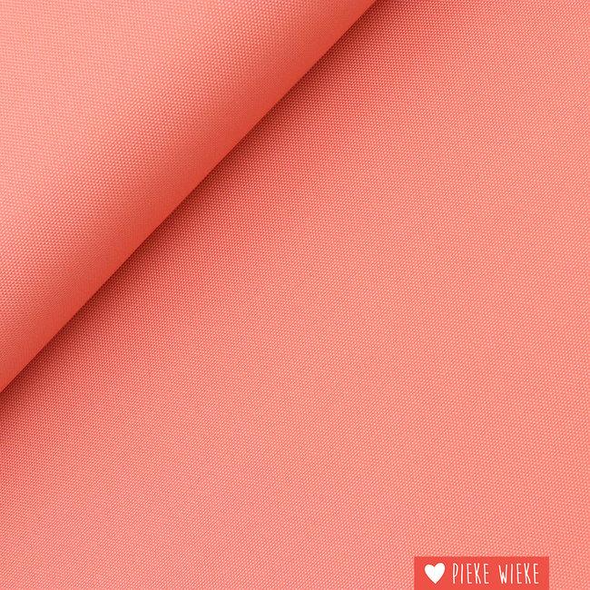 Fijne polyester canvas Koraal