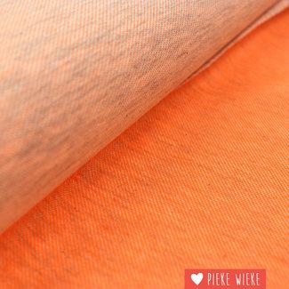 Tricot gemêlleerd fluo oranje