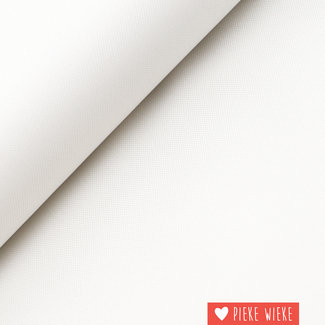 Fine polyester canvas White