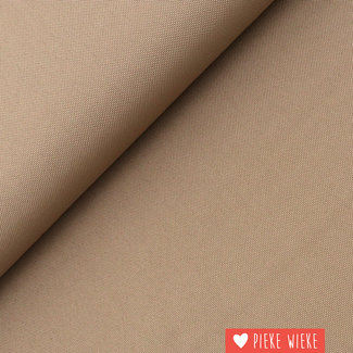 Fijne polyester canvas Taupe