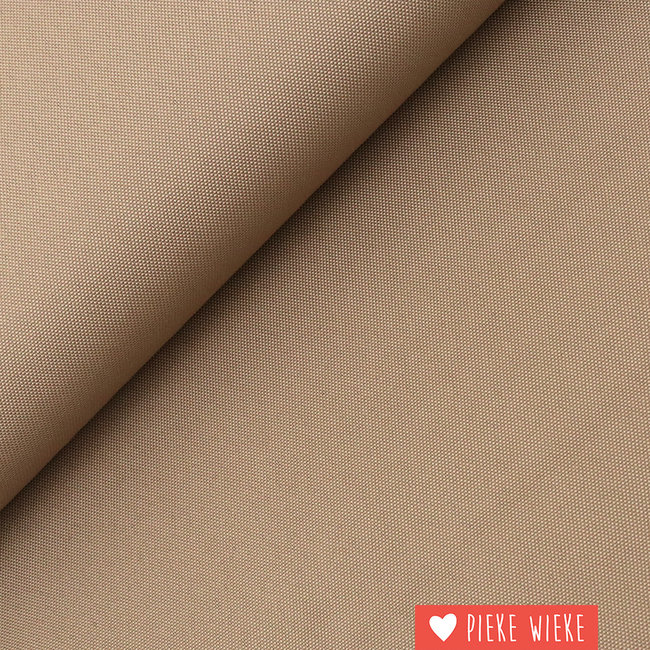 Fine polyester canvas Taupe