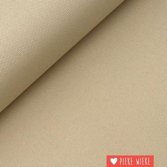 Fijne polyester canvas Beige
