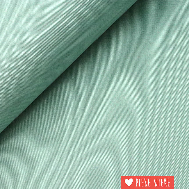 Fijne polyester canvas Mint