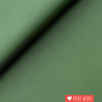 Fijne polyester canvas Donker groen