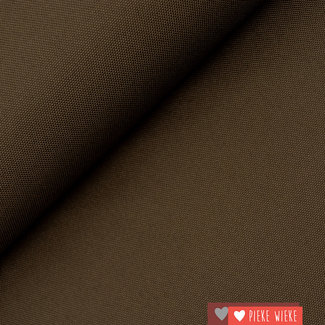 Fine polyester canvas Chocolate